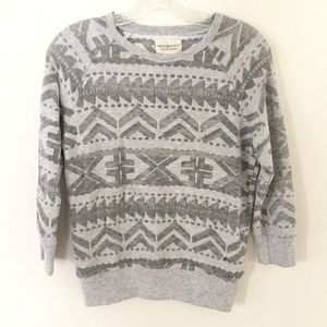 Denim & Supply Tribal Print Lightweight Sweatshirt